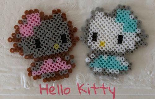 キティ【アイロンビーズ】カラー2種