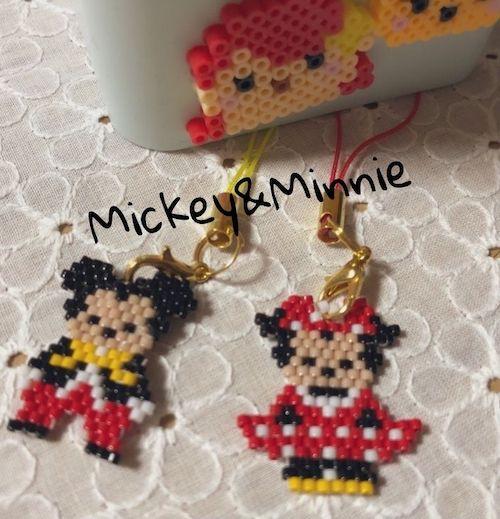 ミッキー&ミニー【デリカビーズ】TDLで会えるベーシックな衣装!