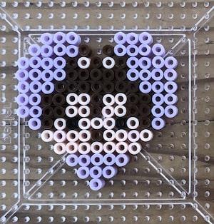 ツムツム【アイロンビーズ図案】簡単にできるバレンタインバージョン