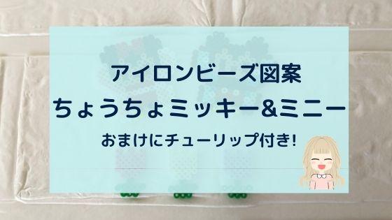 ちょうちょミッキー&ちょうちょミニー【アイロンビーズ図案】チューリップ付き!