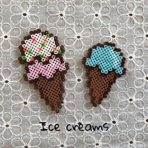 アイスクリーム【アイロンビーズ図案】
