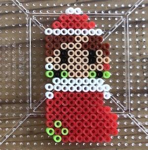 クリスマス鬼滅キャラ【アイロンビーズ図案】オーナメントとしても使えるかわいいサンタたち